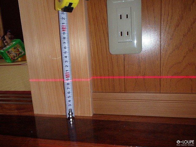 レーザーレベルの測定