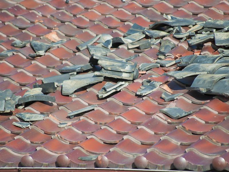 屋根瓦の損傷